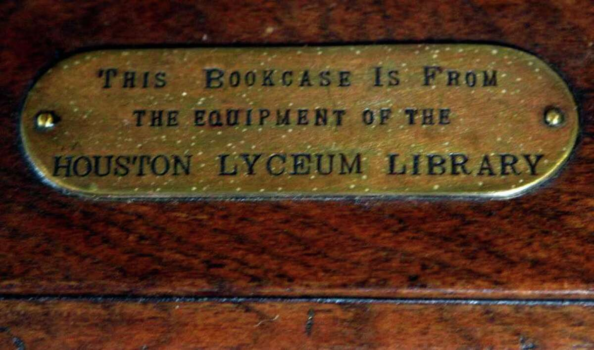 Earliest days The Houston library system itself was founded in 1854, then called the Houston Lyceum.