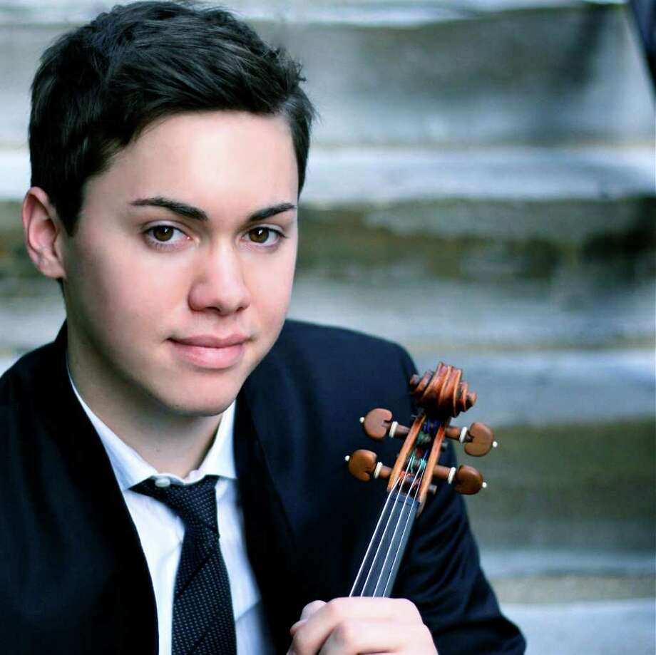 Benjamin Beilman, a 20-year-old violinist, will play Dec. 10 at Pequot Library for Music for Youth's next free Young Persons' Concert. Photo: Contributed Photo