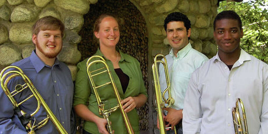 The Yale Trombone Quartet will perform at Westport Public Library Sunday, Dec. 11. Photo: Contributed Photo