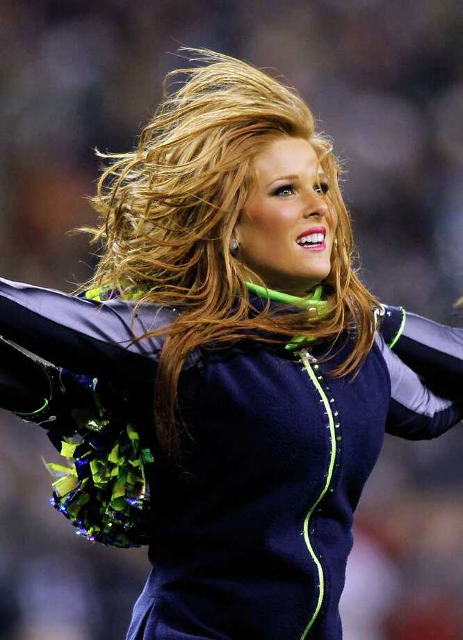 SEATTLE - DECEMBER 01:  A cheerleader of the Seattle Seahawks performs during the game against the Philadelphia Eagles on December 1, 2011 at CenturyLink Field in Seattle, Washington. Photo: Jonathan Ferrey, Getty Images / 2011 Getty Images