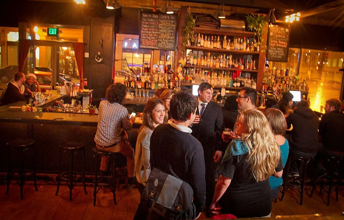 Happy hour at Make Westing bar in Oakland, Calif., is seen on Tuesday, November 29, 2011.