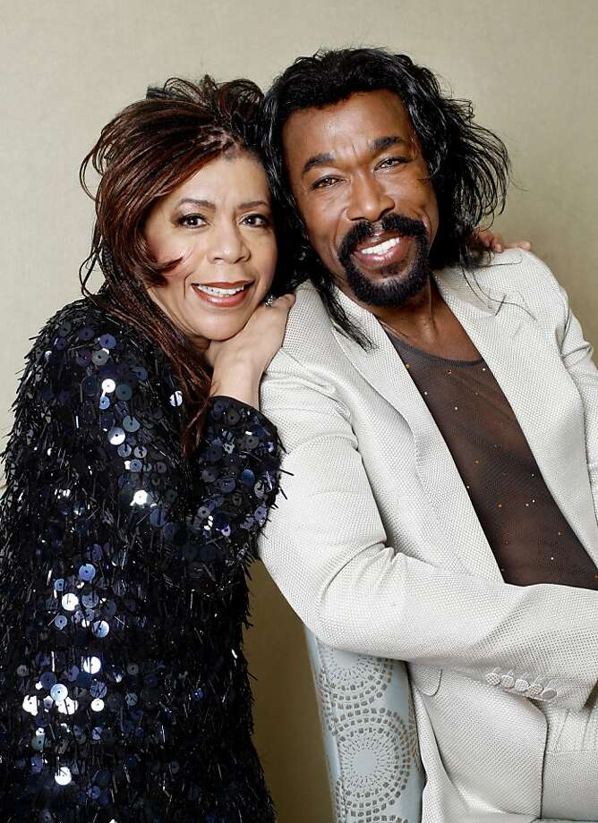 "Valerie Simpson, left, and her husband Nikolas Ashford, right, are songwriters famous for ""Ain't No Mountain High Enough"" and other Motown standards pose for a portrait minutes before beginning a 12 day run at the Rrazz Room in the Hotel Nikko in San Francisco, Calif. on Tuesday, May 6, 2008. Photo by Katy Raddatz / San Francisco Chronicle Ran on: 05-08-2008 Valerie Simpson and Nick Ashford began as songwriters, merged into a performing act, got married, had children and remain an inspiring duo to musical acts. They play the Rrazz Room, where they'll feature some songs they've written for a musical. Photo: Katy Raddatz, SFC"