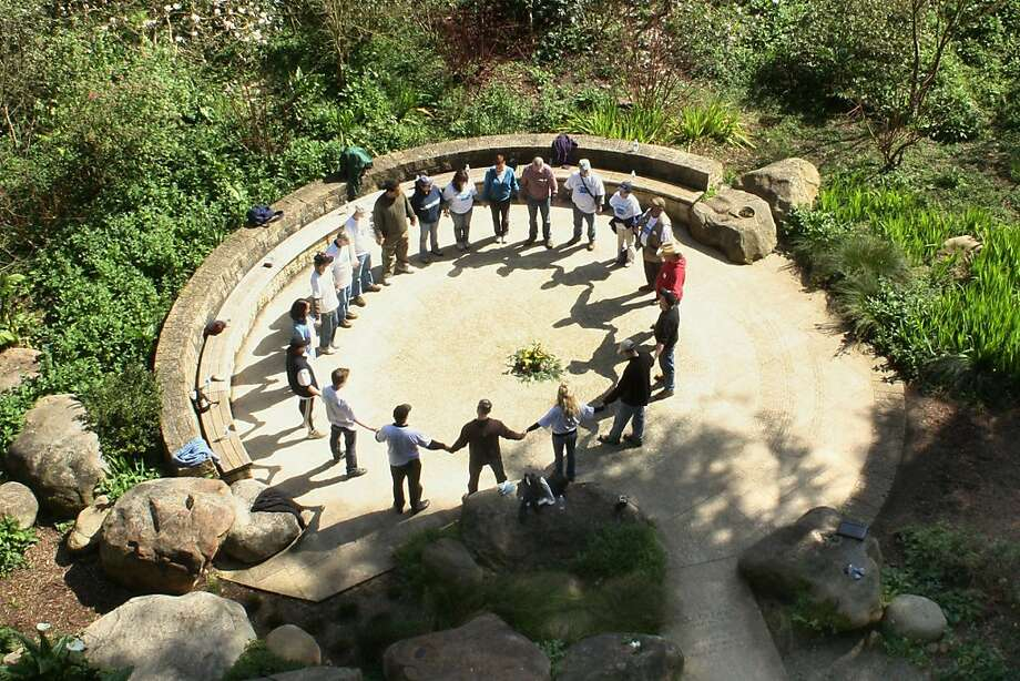 "The Circle of Friends at the National AIDS Memorial as seen in, ""The Grove,"" airing on some PBS stations. Photo: Open Eye Pictures"