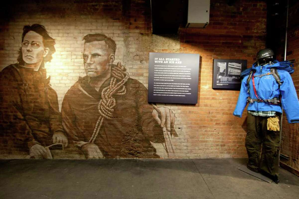 Mary Anderson and her husband, Lloyd, remembered on the wall of REI SoHo in New York.