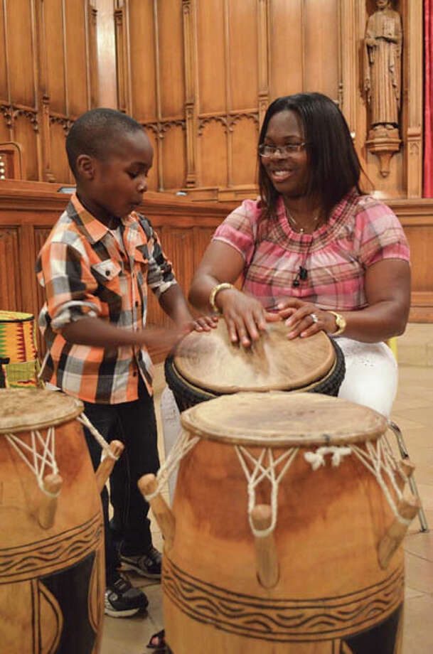 A drumming performance was just one of the various activities of African Culture Night at the Westminster Presbyterian Church in Albany. (Photo by Tyler Murphy/Explore)