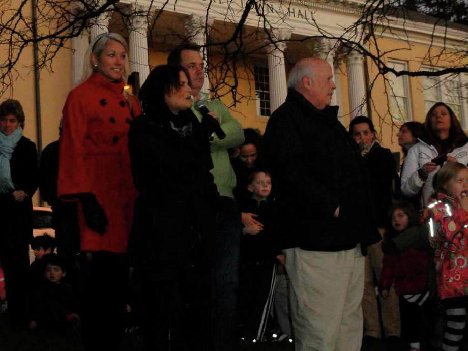 Were you SEEN at the Westport Christmas Tree Lighting at Town Hall on Thursday? Photo: Todd Tracy