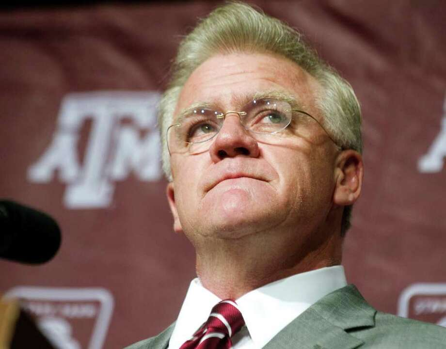 "Mike Sherman on Friday recounted that his family heard about his firing before he did. ""That's disappointing, because I think we're better than that,"" he said. An A&M official later notified him by phone that he was fired. Photo: STUART VILLANUEVA, ASSOCIATED PRESS"