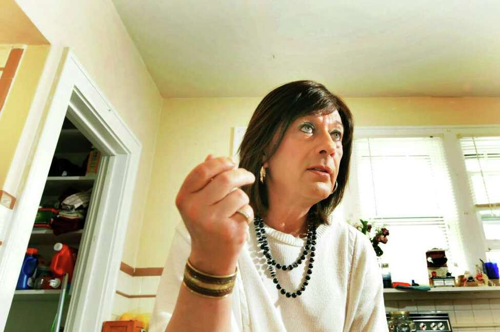 Mona Rae Mason talks about being transgender on May 24, 2011, at her home in Albany, N.Y. (Cindy Schultz / Times Union)