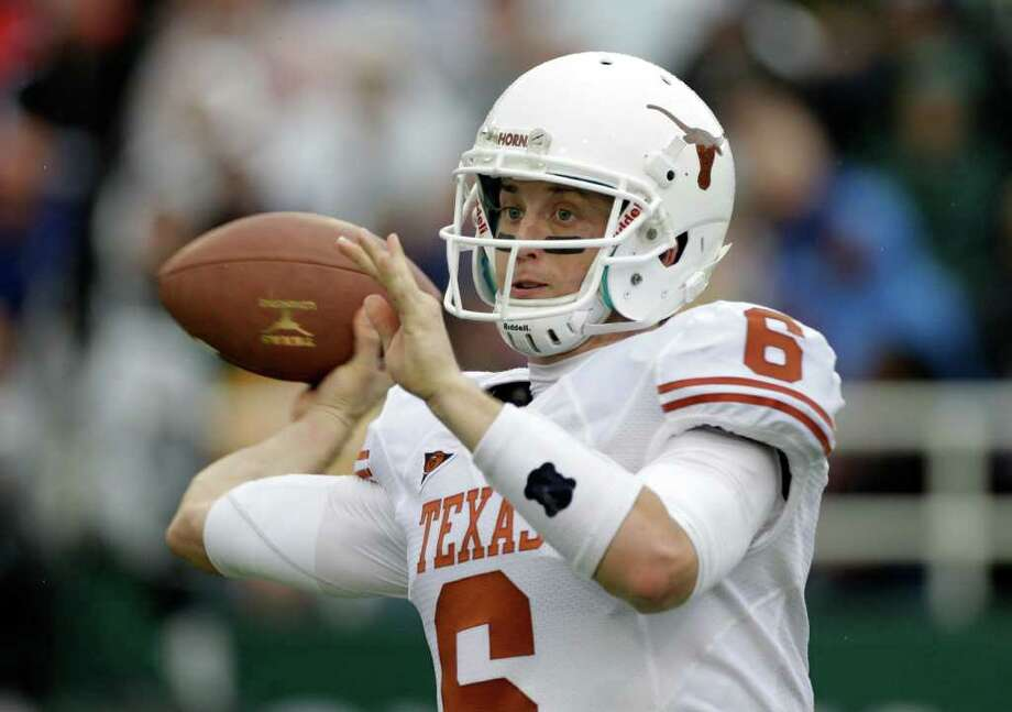 Texas quarterback Case McCoy (6) passes against Baylor in the first half of an NCAA college football game, Saturday, Dec. 3, 2011, in Waco. Photo: Tony Gutierrez, Associated Press