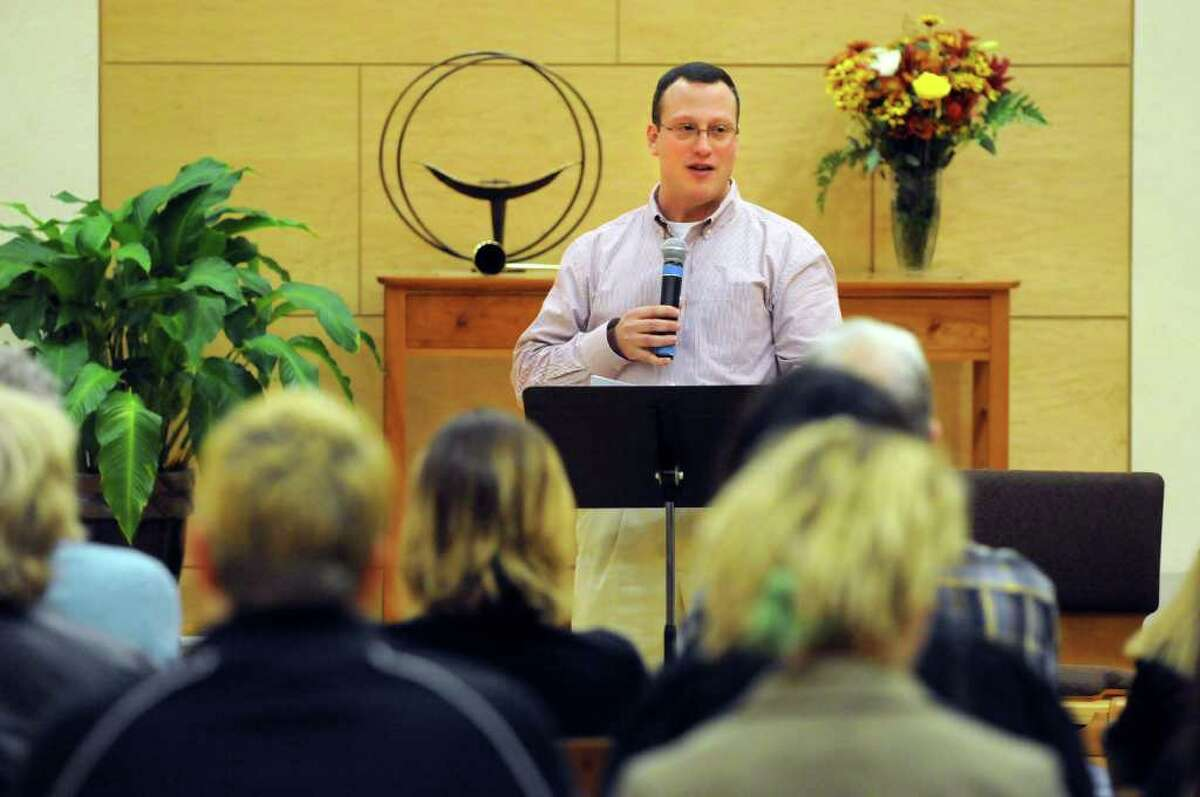 Albany Police Chief Steven Krokoff speaks during the Transgender Day of Remembrance on Sunday, Nov. 22, 2011, at First Unitarian Universalist Society in Albany, N.Y. (Cindy Schultz / Times Union)