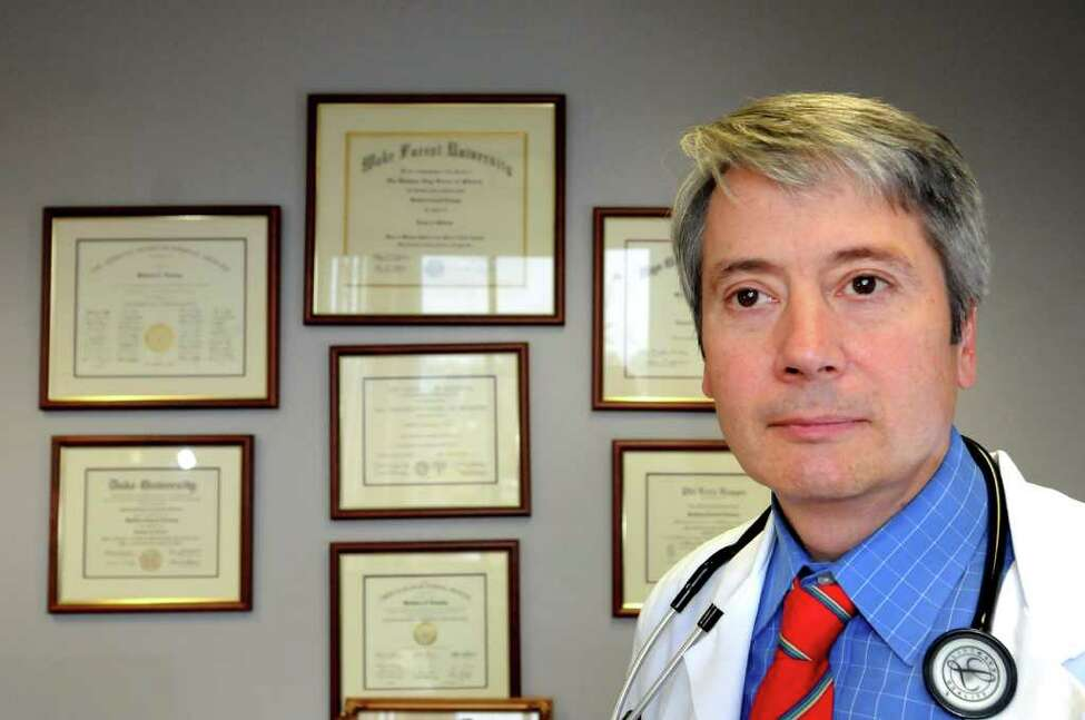 Dr. Matthew Leinung, director of the Division of Endocrinology and Metabolism, at his office on Monday, Nov. 14, 2011, at Albany Medical Center Endocrinology Group in Albany, N.Y. (Cindy Schultz / Times Union)
