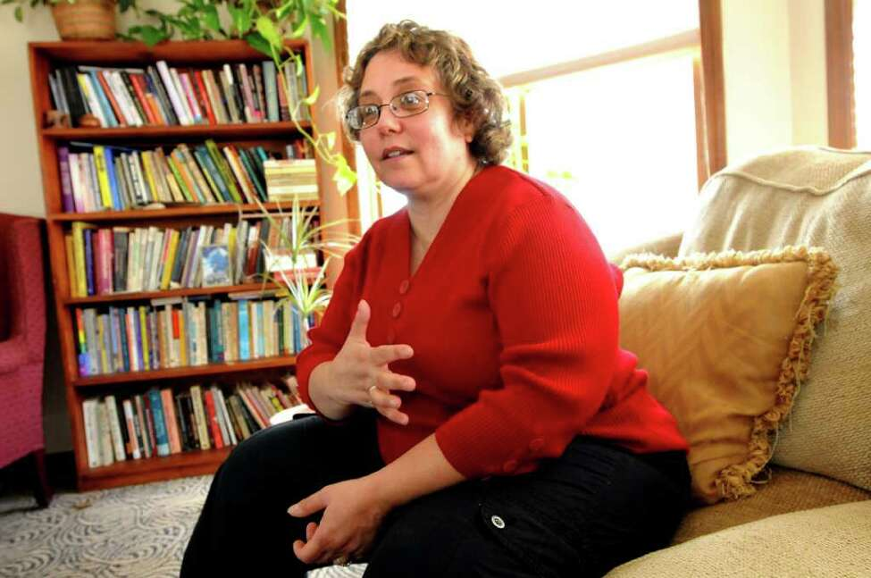 Arlene Lev, clinical social worker and therapist, talks about transgender issues at her office on July 1, 2011, in Albany, N.Y. (Cindy Schultz / Times Union)