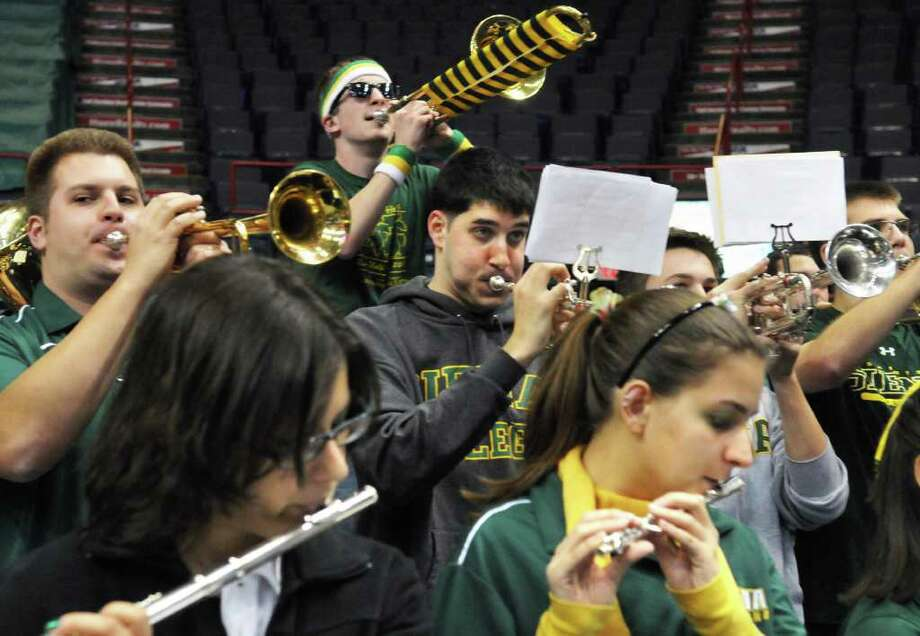 The Siena Pep Band performs during their annual game against Siena women at the Times Union Center in Albany Saturday Dec. 3, 2011.   (John Carl D'Annibale / Times Union) Photo: John Carl D'Annibale / 00015589A