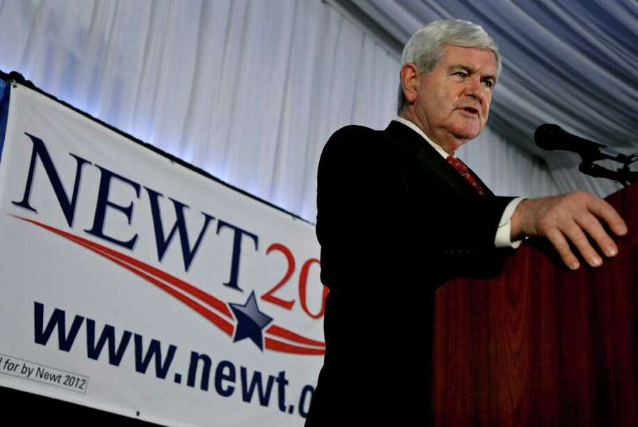 Candidate Newt Gingrich is seen as a beneficiary of Herman Cain's exit from the GOP primary field. Photo: MICHAEL NAGLE, Getty Images