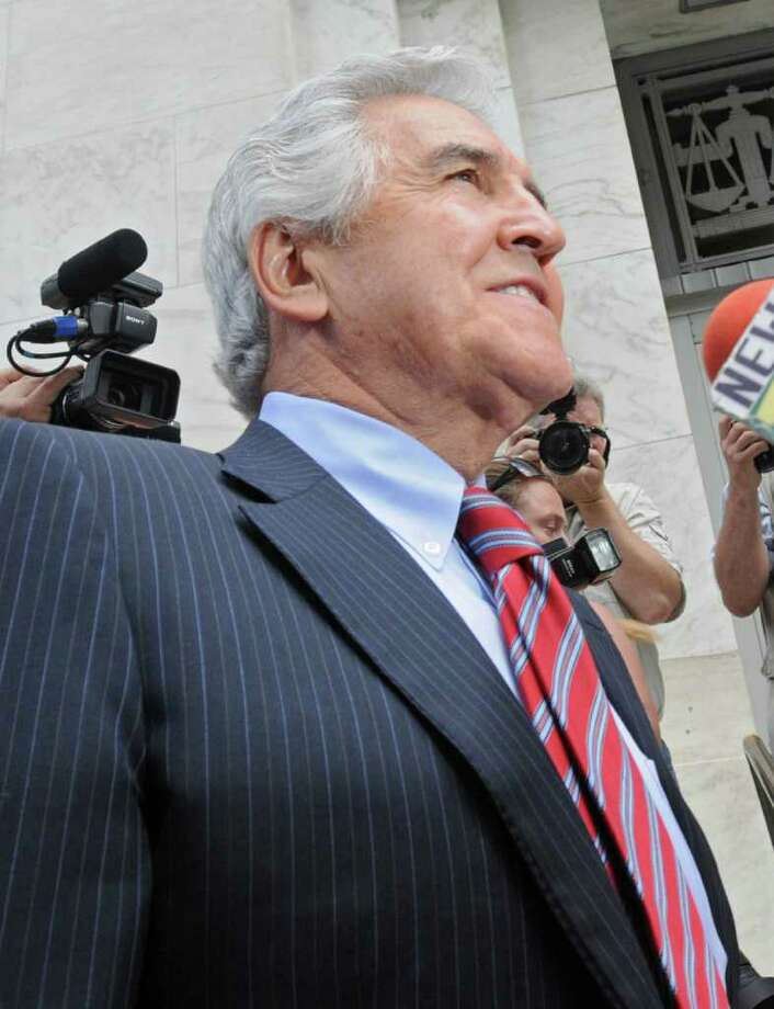 Former State Senate Majority Leader Joseph L. Bruno enters the Federal Court House for his sentencing in Albany, N.Y., on May 6, 2010. (Lori Van Buren / Times Union) Photo: LORI VAN BUREN / 00008609B