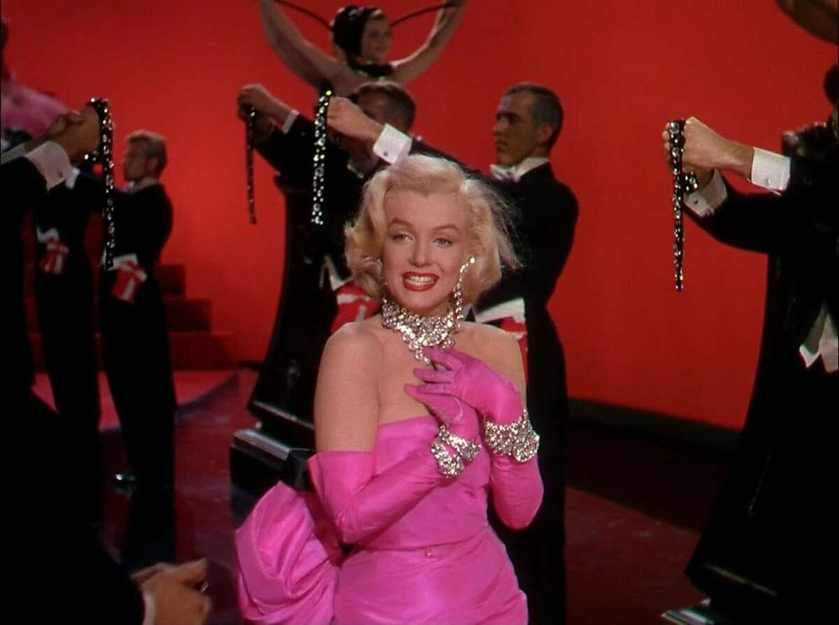 """Marilyn Monroe in """"Gentlemen Prefer Blondes."""""""