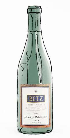 2009 Betz Family La Cote Patriarche Yakima Valley Syrah ###Live Caption:Betz La Cote Patriarche Syrah as seen in San Francisco, California, on Wednesday, November 16, 2011.###Caption History:Betz La Cote Patriarche Syrah as seen in San Francisco, California, on Wednesday, November 16, 2011.###Notes:###Special Instructions:   Magazine#Magazine#SundayMagazine#12/04/2011#ALL#Advance1##0504571819 Photo: Val B. Mina, The Chronicle