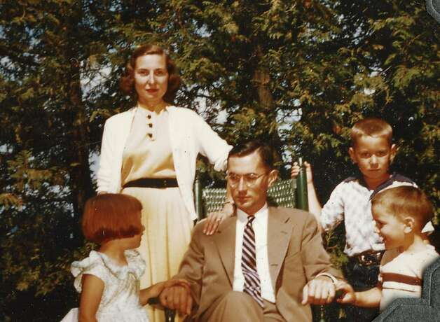Catherine, William, Barbara, Carl and Jonathan Colby near Lake Champlain (mid 1950s). The Man Nobody Knew, a film by Carl Colby. A First Run Features release. Photo: First Run Features