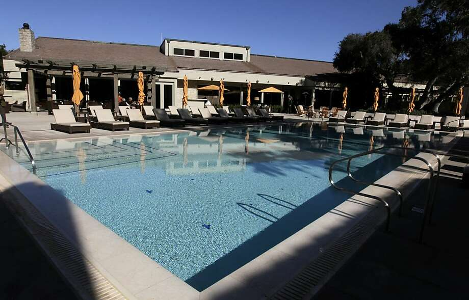The Spa Aiyana features a large pool next to the main lodge of the newly renovated Carmel Valley Ranch Inn in Carmel Valley, Calif. on Tuesday, Nov. 15, 2011. Photo: Paul Chinn, The Chronicle