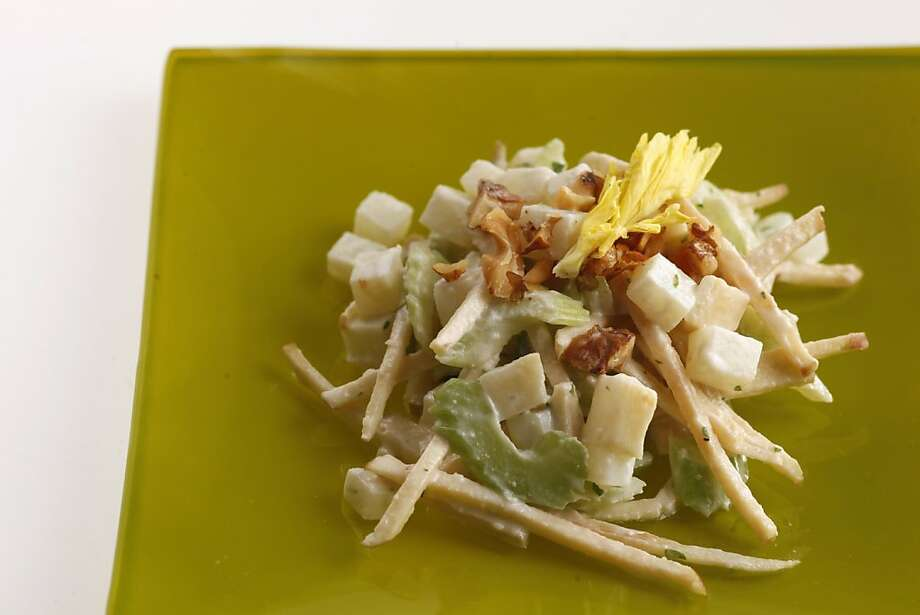 Celery and apple salad (Barbacco, Nick Kelly) as seen in San Francisco, California, on Wednesday April 20, 2011. Food styled by Lisa Appleton. Photo: Craig Lee, Special To The Chronicle