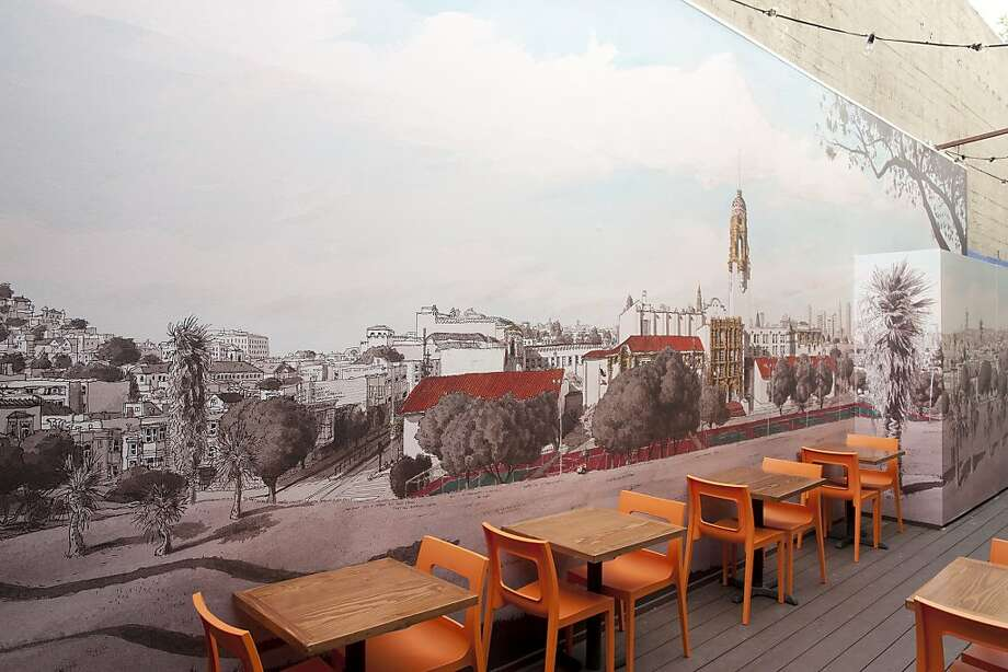 The second Tacolicious location has a 30-seat patio with a large mural by artist Paul Madonna. Photo: Tyler Gourley