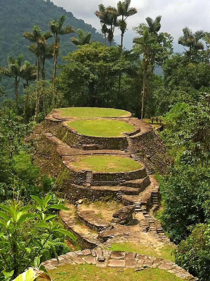 The rocky terraces of Ciudad Perdida rise from mountaintop jungles. Photo: Bill Fink, Special To The Chronicle