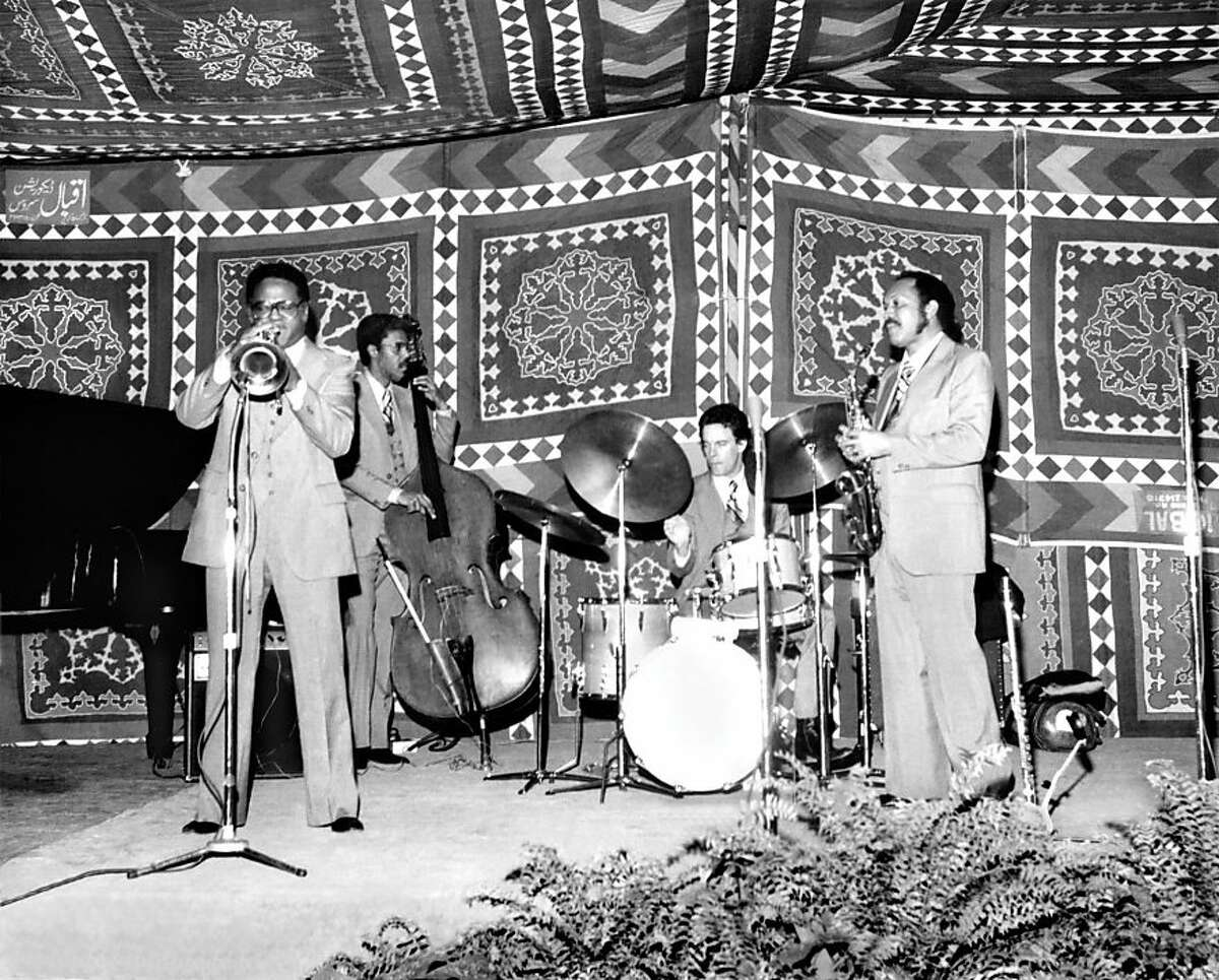 Clark Terry and his Jolly Giants in concert. Karachi, Pakistan, 1978 Courtesy of Special Collections, University of Arkansas Libraries, Fayetteville.