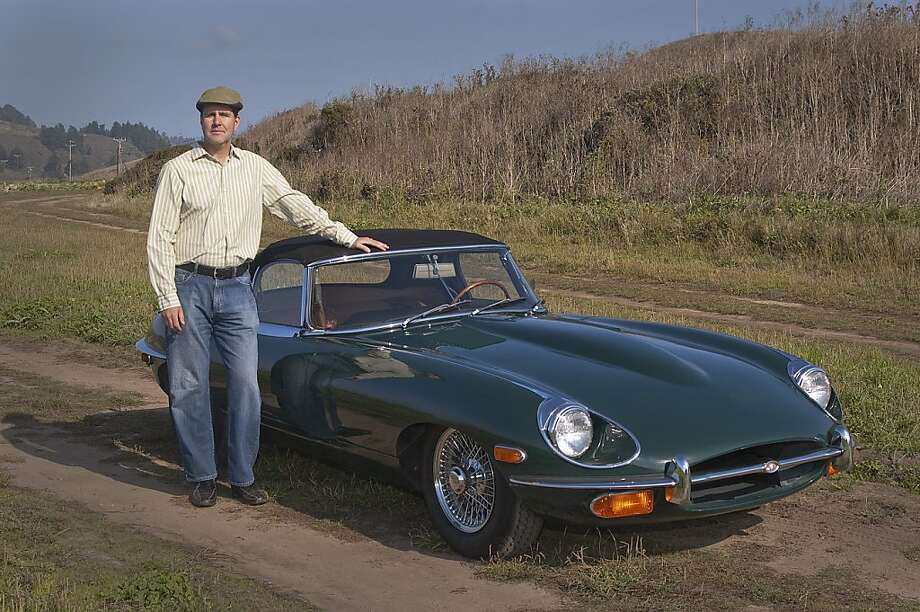 Photos of Brian Smith and his 1969 Jaguar E-Type Soft-Top Convertible photographed outside of Swanton Berry Farm near Davenport, California Photo: Stephen Finerty