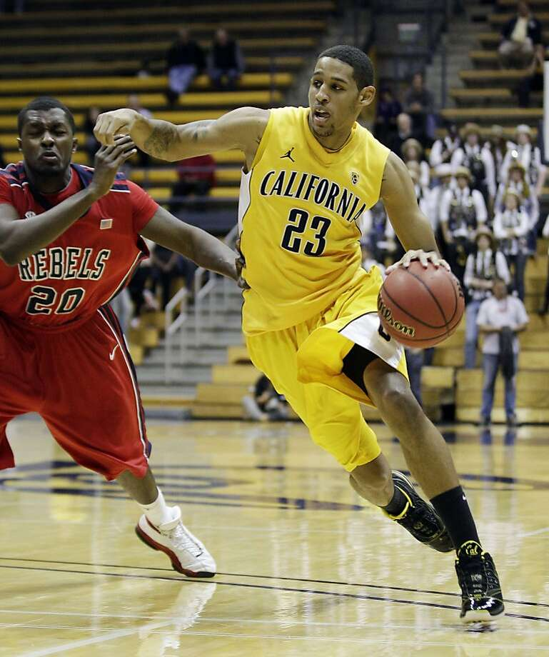 California 's Allen Crabbe (23) dribbles past Mississippi's Nick Williams (20) during the second half of a first-round NIT college basketball tournament game in Berkeley, Calif., Wednesday, March 16, 2011. California won 77-74. (AP Photo)  Ran on: 03-17-2011 Cal's Allen Crabbe, who had 20 points, dribbles past Nick Williams. Ran on: 03-17-2011 Cal's Allen Crabbe, who had 20 points, dribbles past Nick Williams. Photo: AP