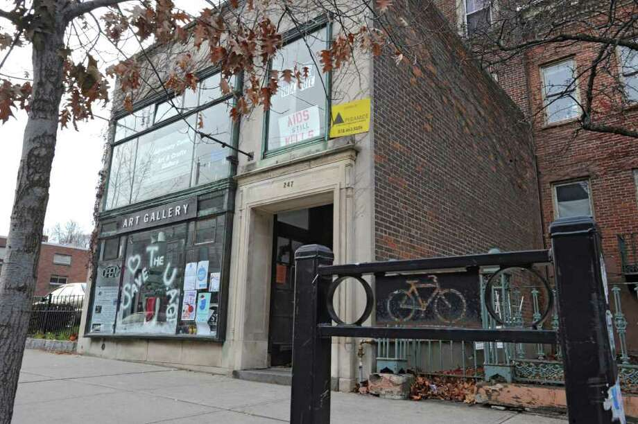 The Art Gallery at 247 Lark St. on Dec. 5, 2011, in Albany, N.Y. The Upstate Artists Guild faces possible eviction from the Lark St. building. (Lori Van Buren / Times Union) Photo: Lori Van Buren