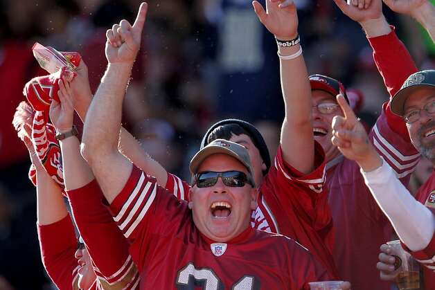 San Francisco 49ers fans cheer as as they defeat the St. Louis Rams, 26-0, Sunday Dec. 4, 2011, at Candlestick Park in San Francisco, Calif. Photo: Lacy Atkins, The Chronicle