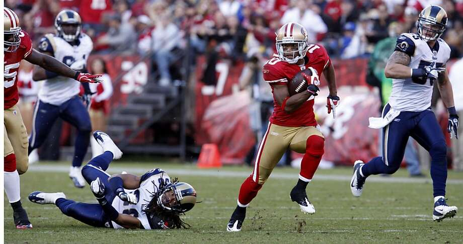 San Francisco 49ers Kyle Williams runs 56 yards for a touchdown against the St. Louis Rams,in the fourth quarter,  Sunday Dec. 4, 2011, at Candlestick Park in San Francisco, Calif. Photo: Lacy Atkins, The Chronicle