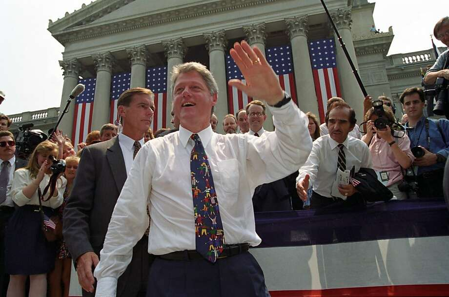 President Clinton Greeting Citizens of Charleston, West Virginia (August 9, 1993) Photo: Courtesy Of William J. Clinton P