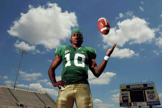 FOR SPORTS - Portrait of Baylor's quarterback Robert Griffin Thursday May 21, 2009 at Floyd Casey Stadium in Waco, Tx. FOR WHISLER STORY.  (PHOTO BY EDWARD A. ORNELAS/eaornelas@express-news.net) Photo: EDWARD A. ORNELAS, SAN ANTONIO EXPRESS-NEWS / eaornelas@express-news.net