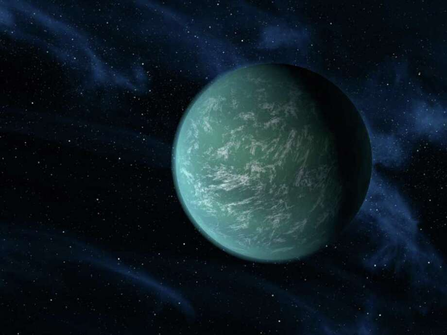 NASA via ASSOCIATED PRESS ALIEN PLANET: An artist rendering provided by NASA shows Kepler-22b, the first planet that the Kepler mission has confirmed to orbit in a star's habitable zone. / NASA