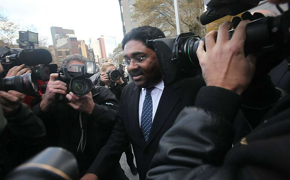 NEW YORK - NOVEMBER 05: Galleon hedge fund partner Raj Rajaratnam departs Manhattan Federal Court after a bail hearing November 5, 2009 in New York City. Rajaratnam is facing insider trading charges. (Photo by Mario Tama/Getty Images) Ran on: 11-06-2009 Galleon Group founder Raj Rajaratnam leaves federal court after a bail hearing. Ran on: 02-05-2010 Raj Rajaratnam, seen here leaving federal court in Manhattan in November, operated the hedge fund at the center of the insider-trading case. Ran on: 04-17-2010 Raj Rajaratnam, founder of Galleon Group LLC, wants to strike claims that he dealt with 23 newly identified firms.