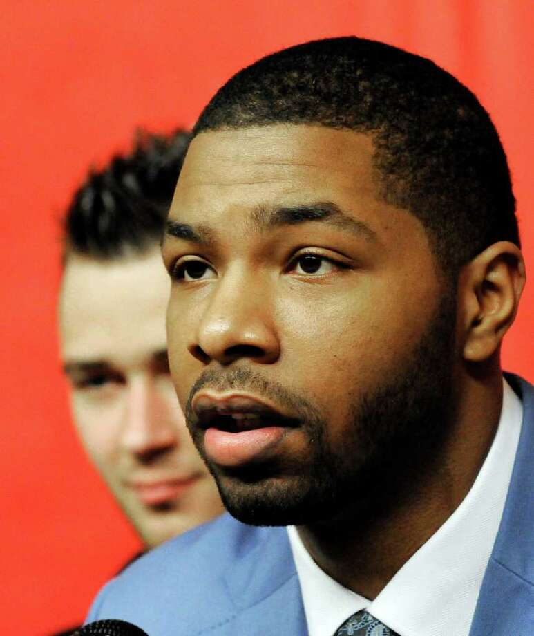 Rockets first-round draft pick Marcus Morris is excited to start his pro career. Photo: Pat Sullivan / AP