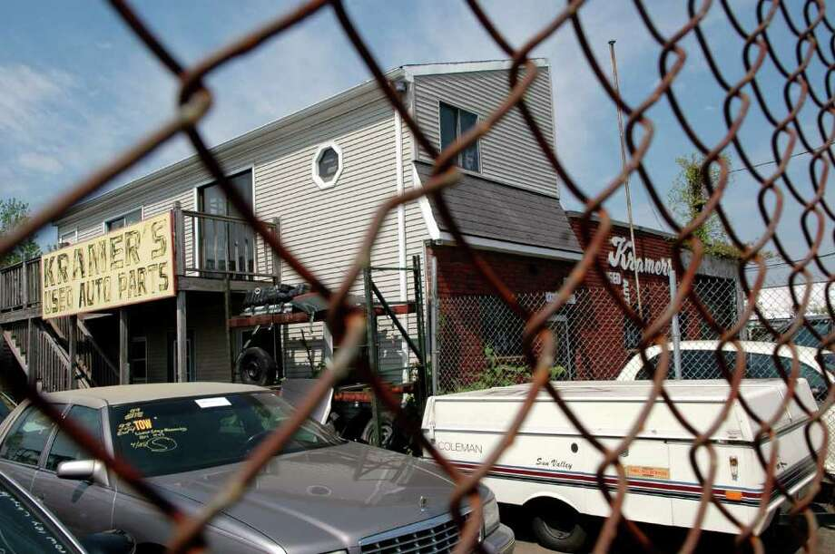 Kramer's Auto Parts, destroyed in a fire Tuesday morning, Dec. 6, 2011, after it was raided by federal authorities during the investigation into failed Times Square car bomber Faisal Shahzad. Authorities said Shahzad stole license plates from a pickup truck parked at the used auto parts shop to put on the Nissan Pathfinder he used to house the car bomb. Photo: Cathy Zuraw, The Advocate / Connecticut Post
