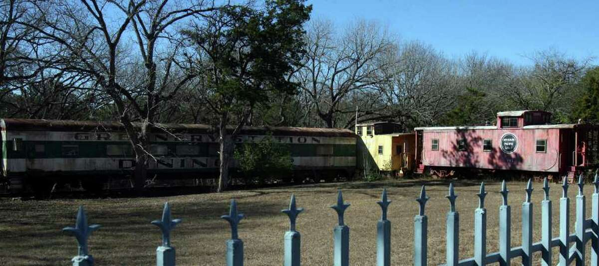 Unusual landmarks such as this property with old rail cars on it dot the Scenic Loop corridor. The area along with parts of Boerne Stage road have been named to the state's most endangered historic places by the nonprofit Preservation Texas, Inc. JOHN DAVENPORT/jdavenport@express-news.net