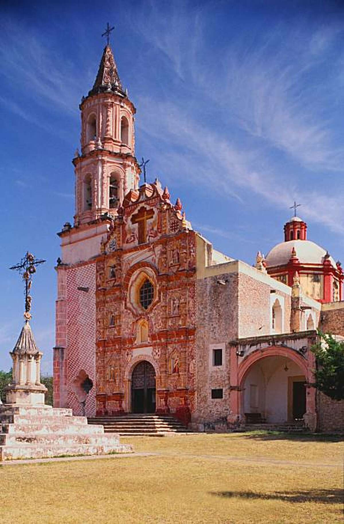Father Junipero Serra's Tancoyol Mission is one of five he built in Mexico's Sierra Gorda region incorporating indigenous motifs before coming to California.