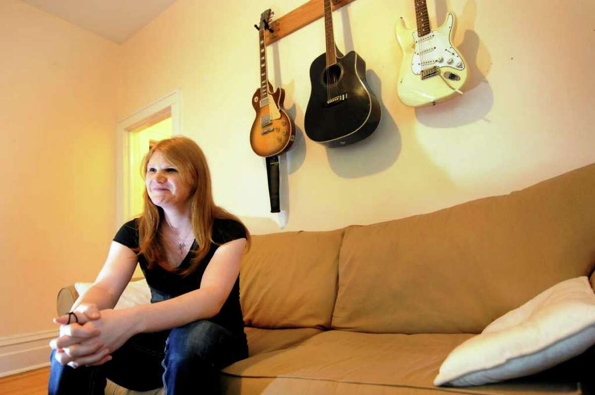 Drew Cordes, who's been transitioning from a man to a woman for seven years, talks about her upcoming gender-reassignment surgery on May 25, 2011, at her home in Albany, N.Y. (Cindy Schultz / Times Union)