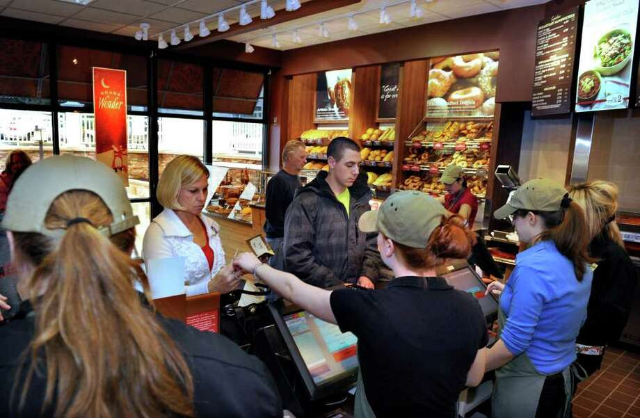 Panera Bread has opened in Southbury in the Plaza Professional Building next to Webster Bank. Photo taken Tuesday, Dec. 6, 2011. Photo: Carol Kaliff / The News-Times