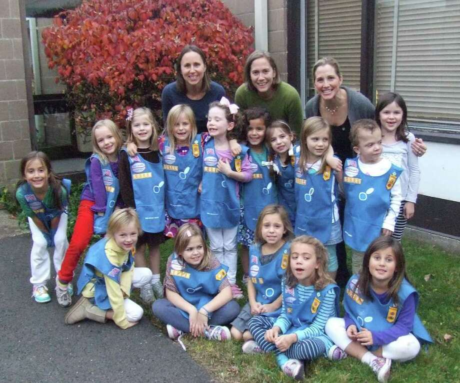 The standing Daisies are Jillian Vaught, Katherine Kahn, Amanda Type, Ruthie Miller, Avery Martin, Delaney Das, Annie Melich, Ryan Hapgood, Devon Andren, and Alex Faucher. The Daisies in the front row are Paige Domenici, Brea Church, Caroline Chandler, Kathleen Pritchartt and Hannah Sharp. Photo: Contributed Photo