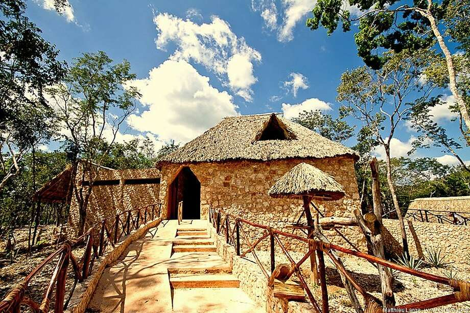 Ecomuseo del Cacao, in Yucatán state's Puuc region, is arranged as a series of traditional thatched-roof houses presenting different themes, and focuses as much on cocoa's mystical significance to the Maya as on the confection itself. Photo: Ecomuseo Del Cacao