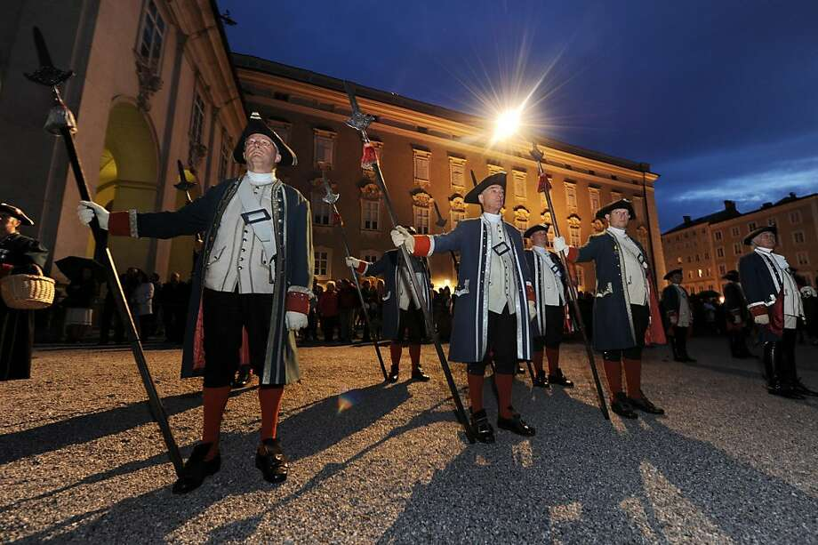 Members of the historical townsfolk guard Salzburg Buergergarde during the opening of the Salzburg Festival on July 23, 2011 in Salzburg, Austria. Photo: Martin Schalk, Getty Images