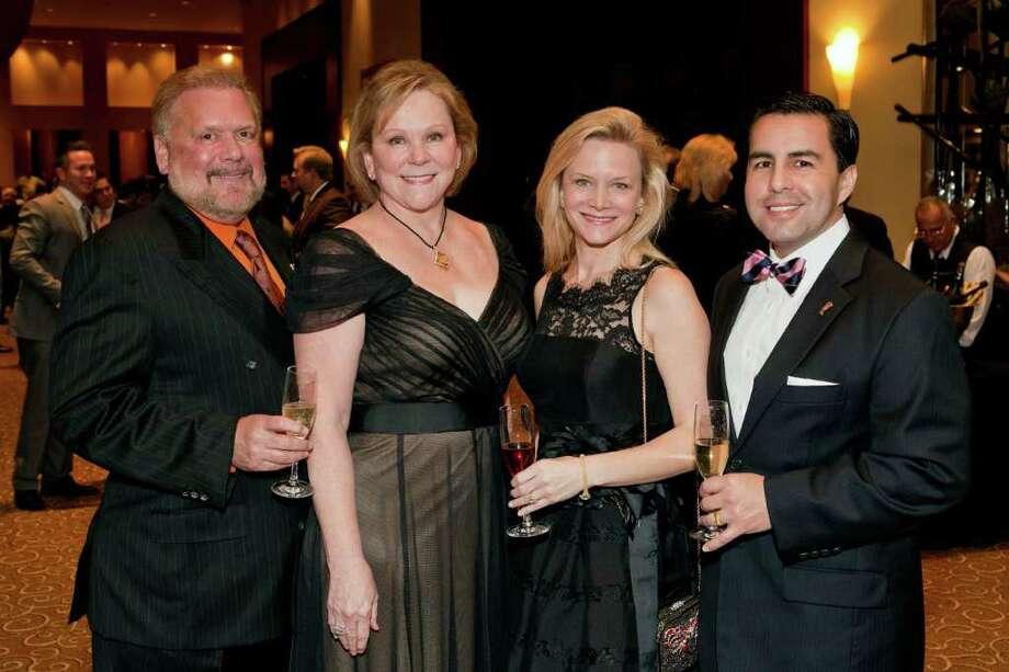 John and Lindy Rydman, from left, with Lisa and Hermen Key Photo: Bruce Bennett / Houston Chronicle