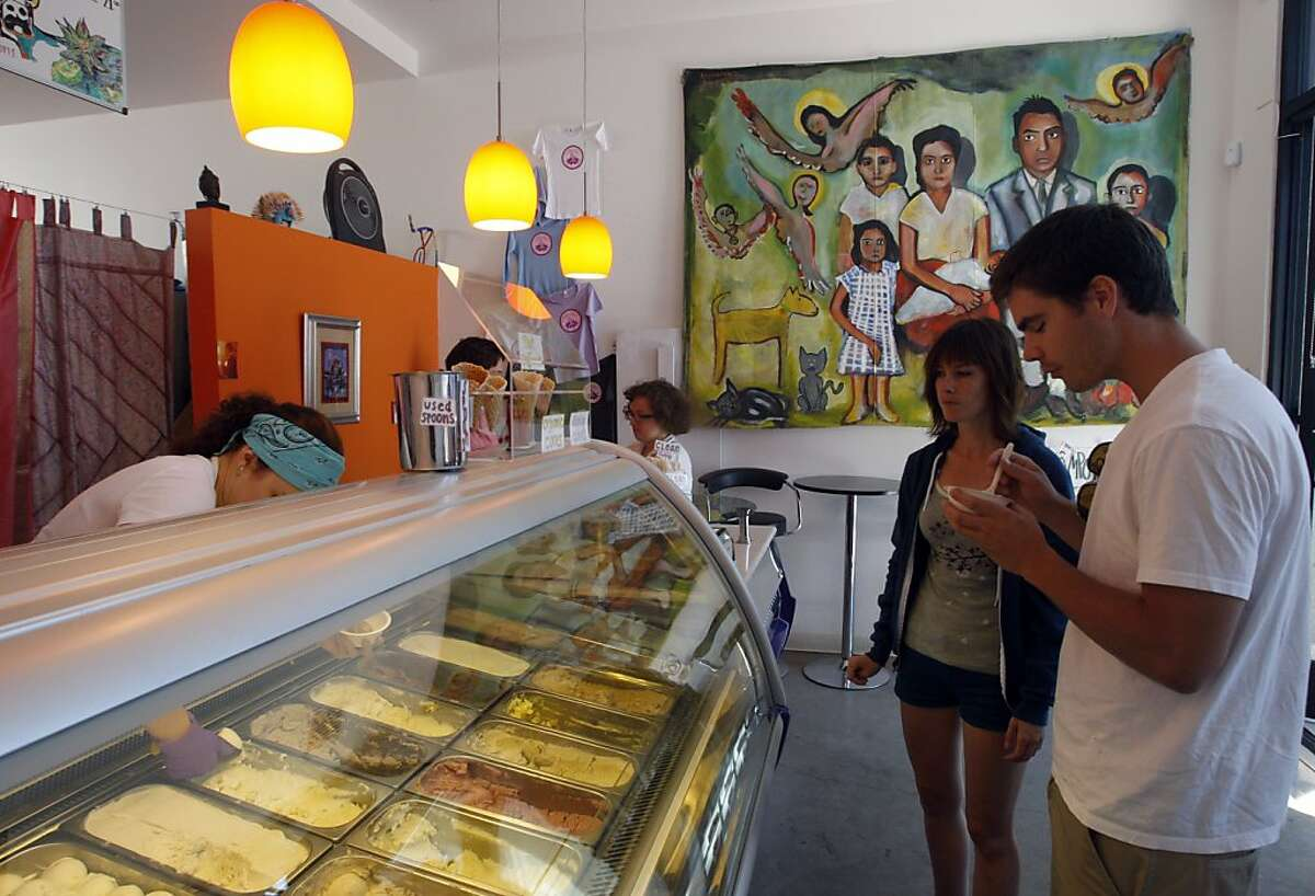 2. Tara's Organic Ice Cream, shop in Berkeley has a large amount of weird flavors on their menu that list lemongrass and butternut squash among others.