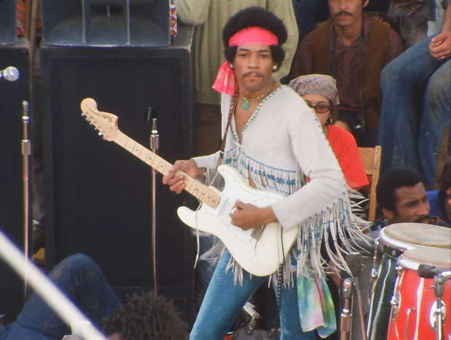 Jimi Hendrix at Woodstock Photo: Warner Bros Entertainment Inc