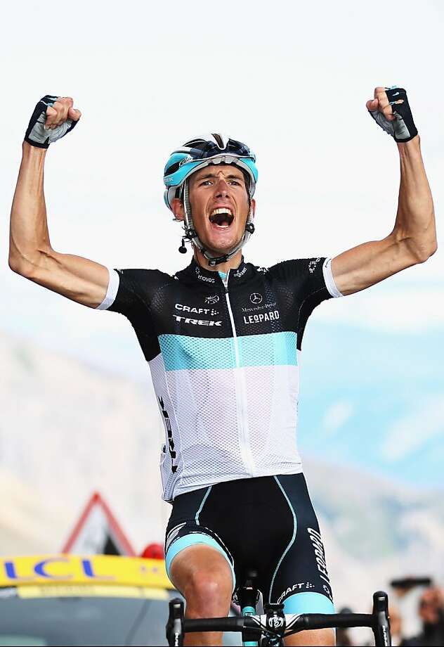 GALIBIER, FRANCE - JULY 21:  Andy Schleck of Luxembourg and Team Leopard-Trek celebrates winning stage eighteen of the 2011 Tour de France from Pinerolo to Galibier Serre Chevalier on July 21, 2011 in Serre Chevalier, France.  (Photo by Bryn Lennon/Getty Images)  *** BESTPIX *** Photo: Bryn Lennon, Getty Images