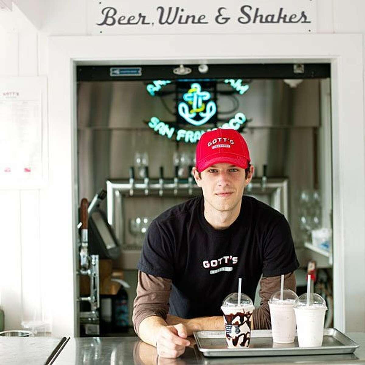 Take time to splurge on an extra-large espresso bean milkshake at Gott's Roadside in St. Helena, CA.